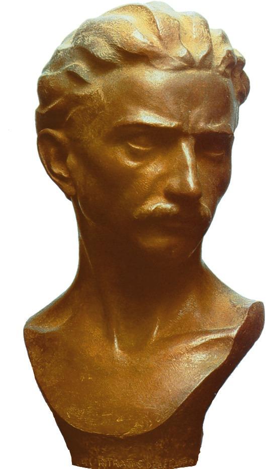 Busto di Pietro Giampaoli realizzato dal fratello Celestino, anch'egli valente artista come Pietro, terzo esponente di una vera e propria famiglia di talenti
