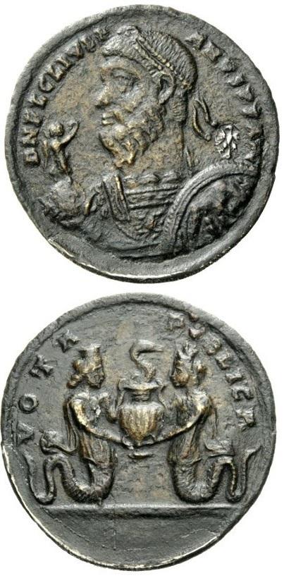 Iside e Serapide, mitologici sposi-fratelli, su questo affascinante medaglione contromarcato come proveniente dalla collezione dei Gonzaga di Mantova