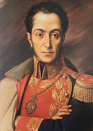 """Decisamente solenne e """"napoleonico"""" questo ritratto di Simon Bolivar, """"El Libertador"""" del Sud America"""