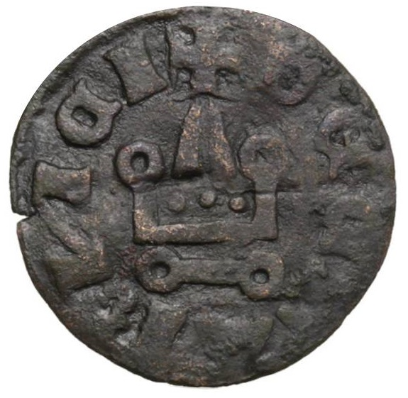 Il rovescio della stessa moneta che potrebbe essere stata coniata da Niccolò Ianvilla nella tuttora dubbia officina monetaria di Avella