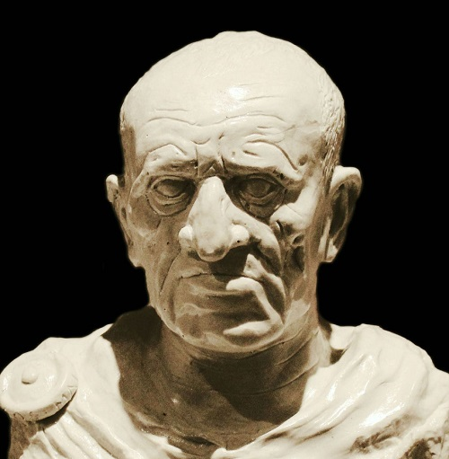 """Catone """"il Censore"""" in un magnifico ritratto marmoreo che ne mostra tutto il carattere"""