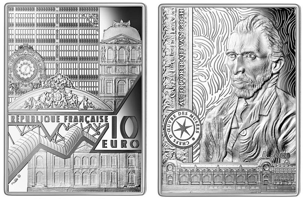 Tra i capolavori in moneta coniati dalla Francia anche un autoritratto di Vincent Van Gogh