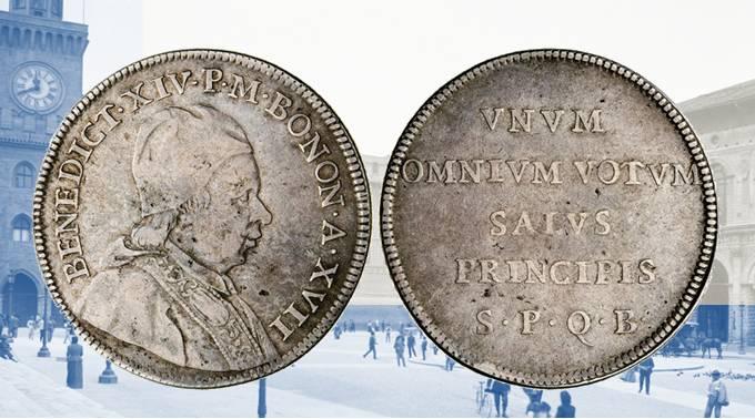 ratità numismatiche Bologna Benedetto XIV