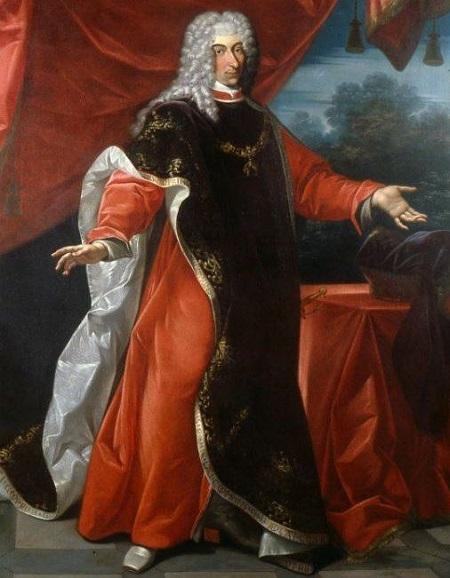 Il duca di Modena e Reggio, Rinaldo d'Este, in un ritratto così solenne da non sfigurare accanto a quelli dei grandi sovrani d'Europa del XVII-XVIII secolo