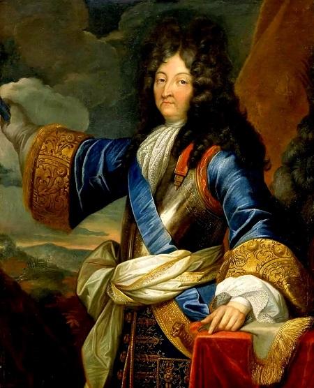 Luigi XIV di Francia, il Re Sole, che mlto spesso ebbe mire sui territori italiani facendone campi di battaglia e terre di conquista