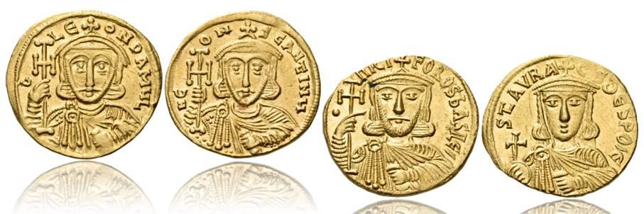Lo scettro nelle monete di Costantinopoli