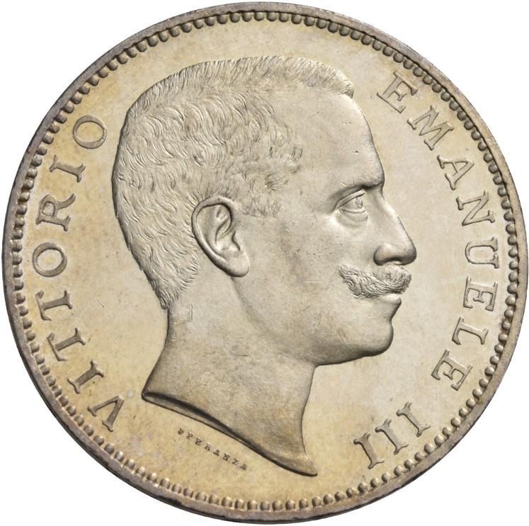 5 lire 1901 dritto