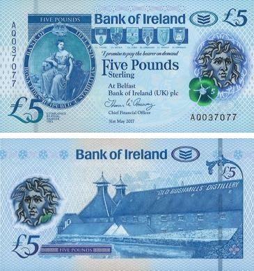 La banconota polimerica da 5 pound introdotta nel 2019