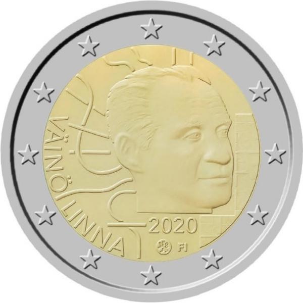 Väinö Linna come sarà ritratto sui 2 euro di Finlandia in uscita verso la fine dell'anno