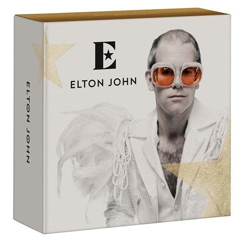 """La copertina di """"Crocodile Rock"""" è una fra quelle riutilizzate per il packaging delle monete dedicate a Elton John"""
