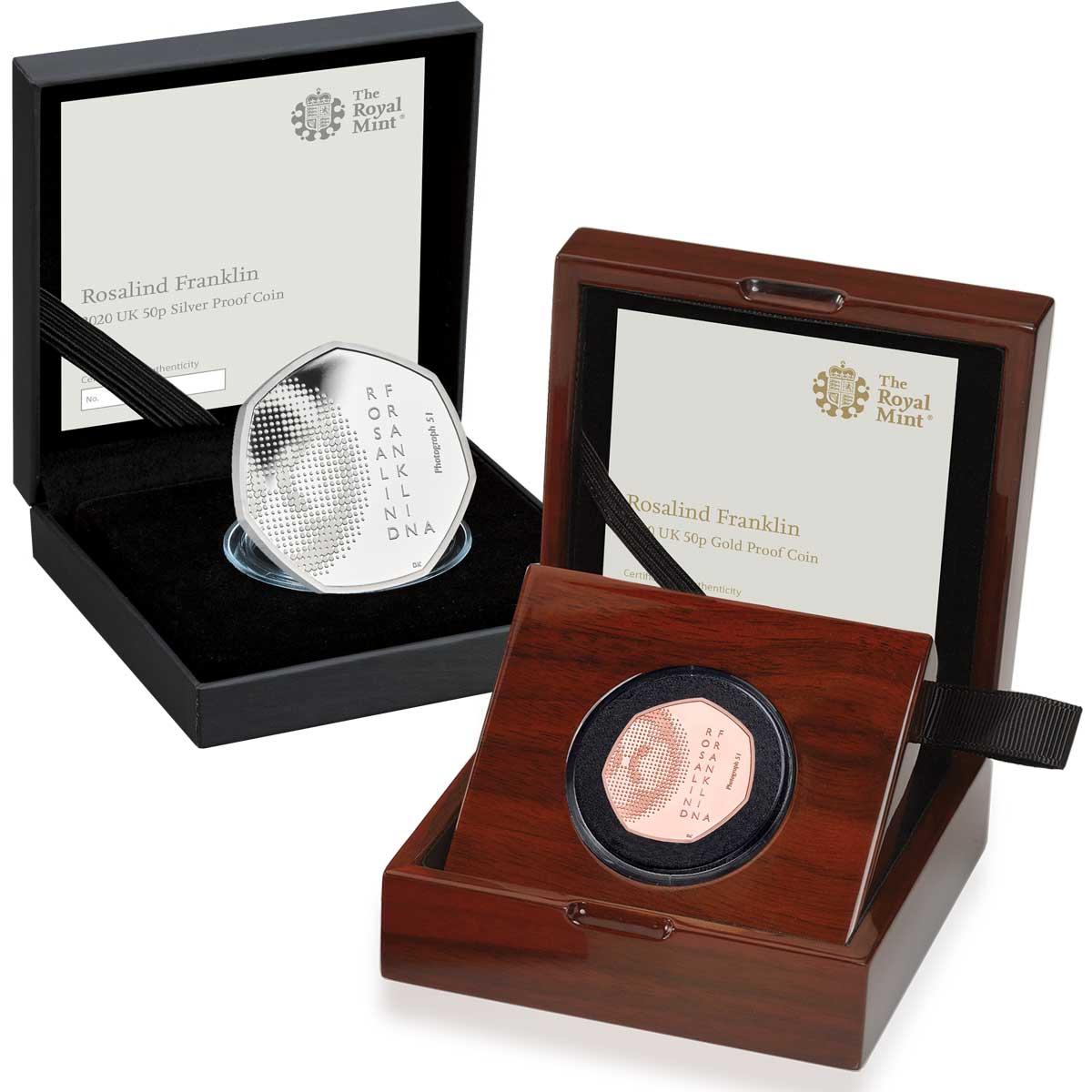 Oro, argento e cupronichel per Rosalind Franklin, brillante scienziata inglese nata cento anni fa