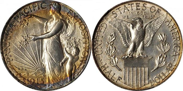 Richiama la Seminatrice delle monete francesi questa Lady Liberty sul quarto di dollaro in argento del 1915