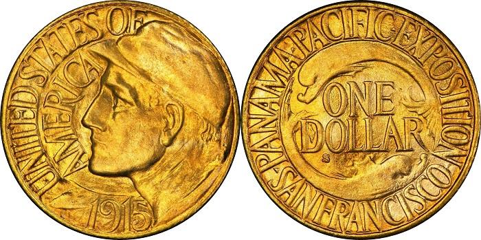 Il dollaro in oro della serie Panama-Pacific è un omaggio alle migliaia di operai del Canale di Panama