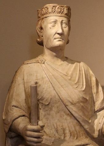 Carlo I d'Angiò, re di Sicilia dal 1266 al 1282 e di Napoli, dopo la cacciata dovuta ai Vespri, fino alla morte nel 1285