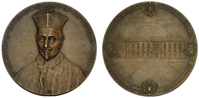 Medaglia del 1911 che ricorda Gregorio Barbarigo nel 150° anniversario della beatificazione