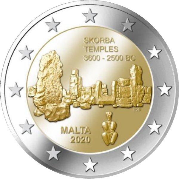 I 2 euro maltesi dedicati al sito UNESCO del Tempio di Skorba sono sul mercato e in circolazione dal 27 luglio scorso