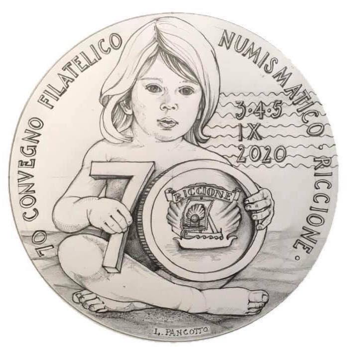 Il bozzetto originale di Loredana Pancotto per la medaglia celebrativa di Riccione 2020