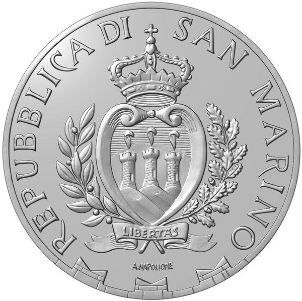 Il dritto della 10 euro cupronichel Pro Iss è quello classico firmato Antonella Napolione