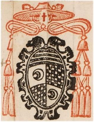 Arma del cardinale Vitellozzo Vitelli, camerlengo nella Sede Vacante del 1565