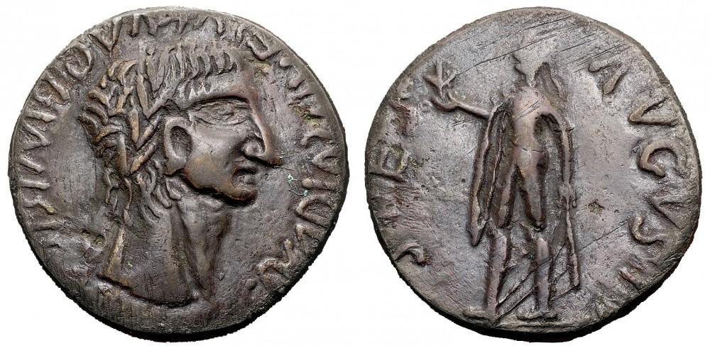 """La contraffazione monetaria attraversa tutte le epoche: ecco un sesterzio dell'imperatore Claudio """"riproposto"""" da un'ignota zecca barbarica"""