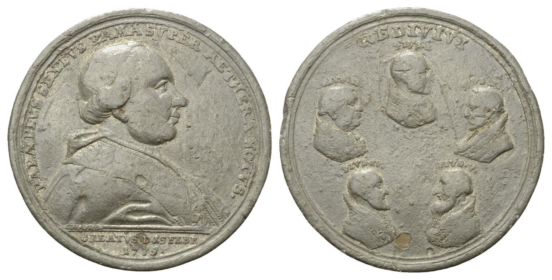 """Della medaglia dello Oexlein sono noti anche esemplari """"popolari"""" coniati in peltro, come questo"""