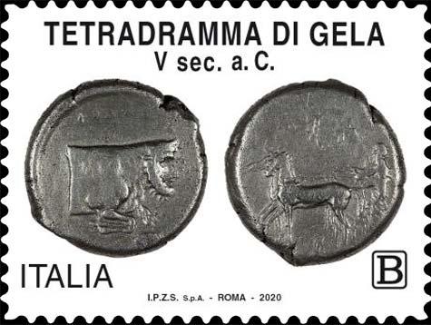 """Il francobollo """"numismatico"""" dedicato a Gela e alla sua ricca storia"""