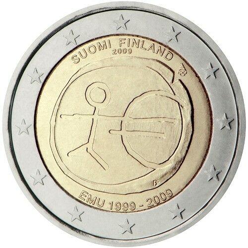 I 2 euro del 2009 per i dieci anni dell'Unione monetaria europea in versione finlandese
