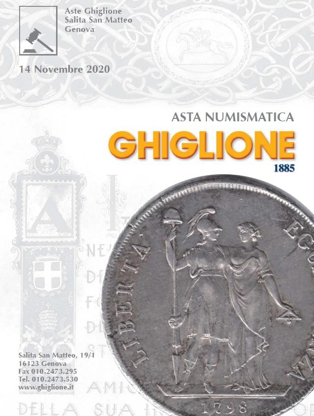La copertina del catalogo Ghiglione asta numismatica 63: clicca per accedere al Pdf completo e scopri tutti i lotti all'incanto il 14 novembre