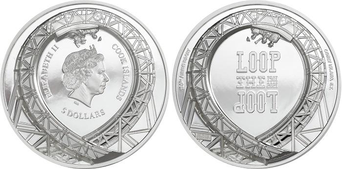 Dritto e rovescio dell'oncia d'argento ad alto rilievo che è stata coniata su concept di CIT Coin Invest, compagnia privata che cura le emissioni numismatiche di numerosi paesi in tutto il mondo