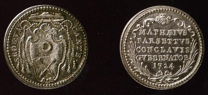 La seconda versione della medaglia per il governatore del Conclave 1724