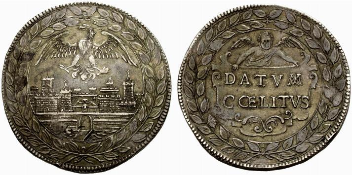 """Il magnifico scudo di gusto """"medaglistico"""" coniato a Mantova a nome del duca Carlo I Gonzaga Nevers"""