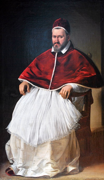 Camillo Borghese, papa col nome di Paolo V dal 1605 al 1621, così come lo ritrae Michelangelo Merisi da Caravaggio, uno dei suoi artisti favoriti