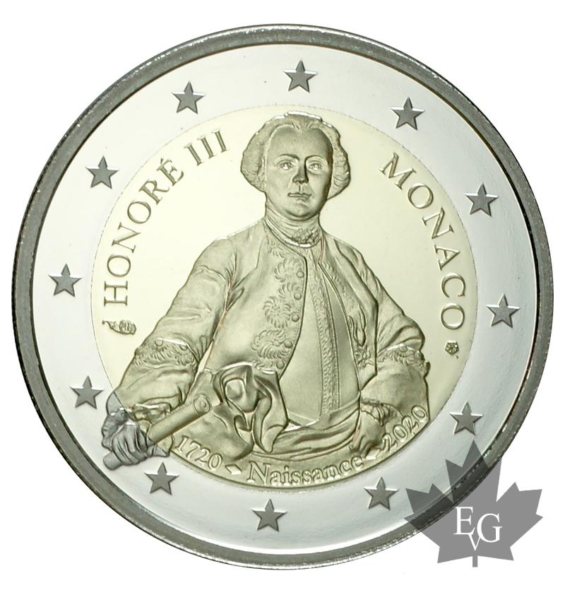 I 2 euro proof 2020 di Monaco dedicati a Onorato III Grimaldi nel 3° centernaio della nascita (courtesy Editions Gadoury)