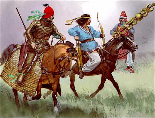 """Antichi guerrieri armeni a piedi e a cavallo: ci sono anche loro, sebben sconfitti, tra le """"comparse"""" della telenovela storica che si cela dietro al denario di Augusto"""