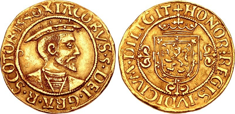 """Il """"bonnet"""" (berretto) millesimato 1540 è la prima moneta con data nella storia della Scozia, segno di una volontà del sovrano di inserirsi nei mercati internazionali con Francia, Inghilterra e Spagna"""