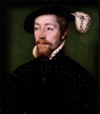 Giacomo V Stuart, re di Scozia, ritratto con il prediletto berretto che diede il nome alla sua più famoisa moneta d'oro