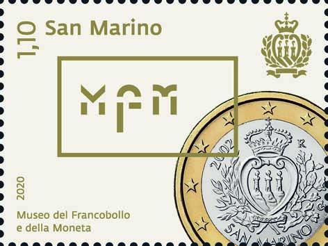 C'è la faccia nazionale del primo euro sammarinese sul francobollo da € 1,10 che anticipa, causa emergenza coronavirus, l'apertura del nuovo percorso espositivo