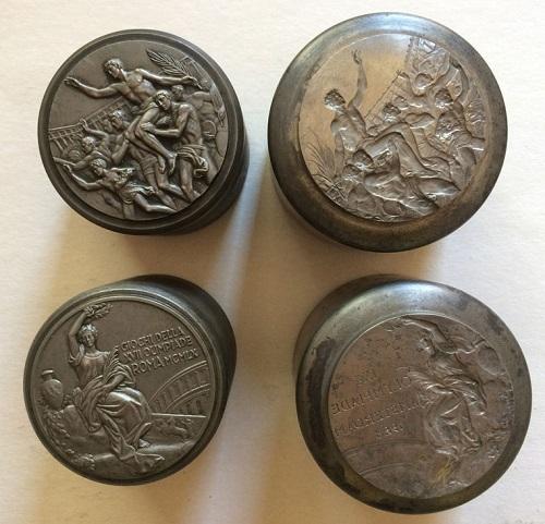 Coni e punzoni della medaglia di Giuseppe Cassioli nella versione per i Giochi di Roma 1960