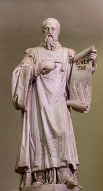 Il santo Marino del Tadolini che indica la LIBERTAS come valore supremo