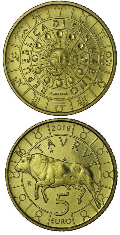 Sono tutte firmate da Annalisa Masini le monete zodiacali della serie di San Marino