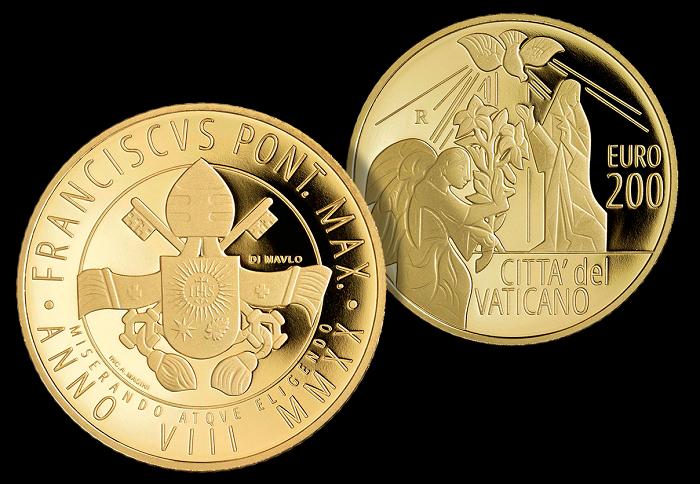 """I 200 euro vaticani di quest'anno proseguono, con Garbiele """"il messaggero"""", la serie dedicata agli arcangeli"""
