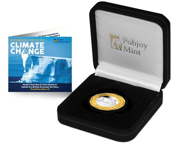 Sono solo 450 gli astucci che ospitano il pound dodecagonale nella versione in argento proof con colorazione dorata sull'anello esterno