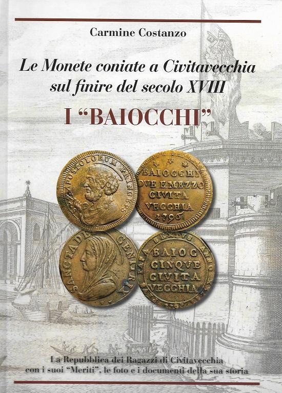 La copertina del volume dedicato alla zecca e alle monete di Civitavecchia di fine XVIII secolo