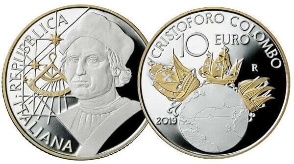 Il sestante e le caravelle impreziosite dall'oro hanno affascinato il comitato per le nomination ai COTY 2021: i 10 euro d'Italia sono in nomination come moneta storicamente più significativa coniata nel corso del 2019