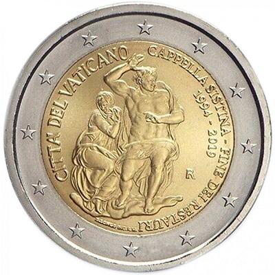 Tra le candidate a miglior bimetallica nei premi Coin of the Year ci sono i 2 euro vaticani per i 25 anni dalla fine dei restauri della Sistina, capolavoro dell'arte universale