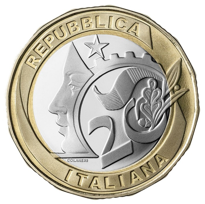 Il dritto dei 5 euro per il G20 creati da Maria Carmela Colaneri: un mix di essenzialità ed eleganza nel proporre in modo moderno i simboli repubblicani