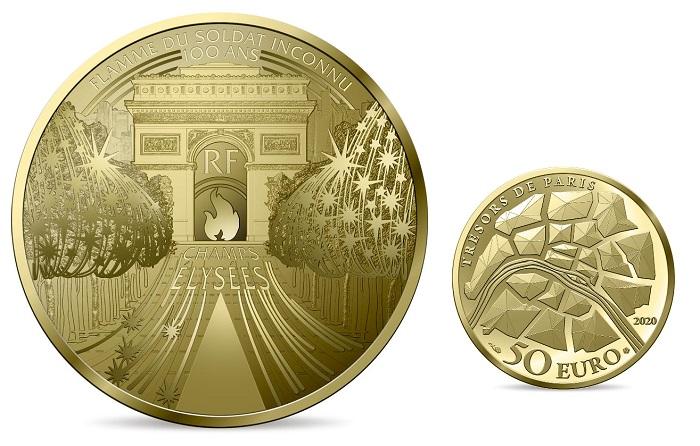 I 50 euro in oro, peso un quarto di oncia, coniati dalla Monnaie de Paris nell'ambito della serie dedicata ai tesori architettonici della capitale transalpina