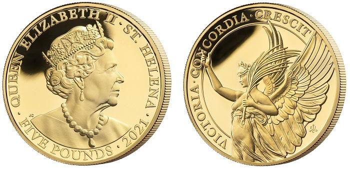 Di questa oncia d'oro dedicata alle virtù di una regina, in questo caso la Vittoria, sono stati coniati solo 250 esemplari per tutto il mercato mondiale