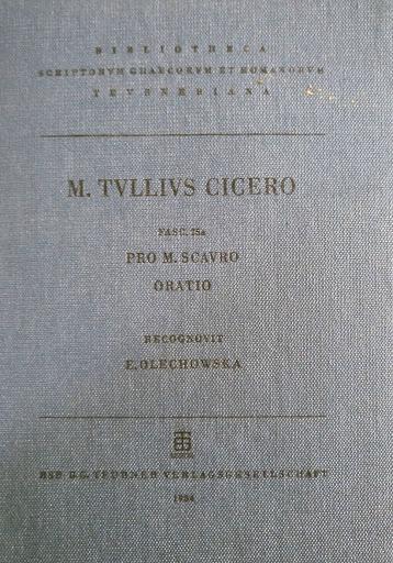 Un'edizione del discorso ciceroniano in difesa di Scauro