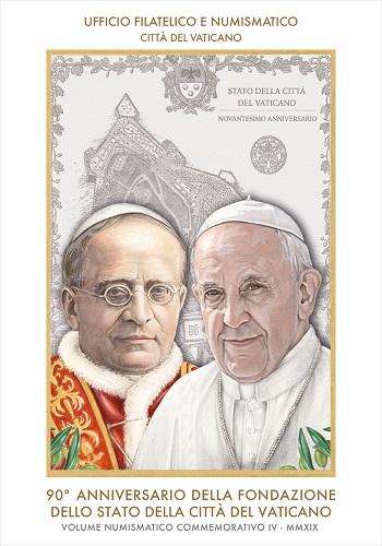 Il volume numismatico commemorativo n. 4 dell'UFN vaticano è disponibile come solo raccoglitore o con le 2 euro speciali emesse nel 2019 in versione FDC